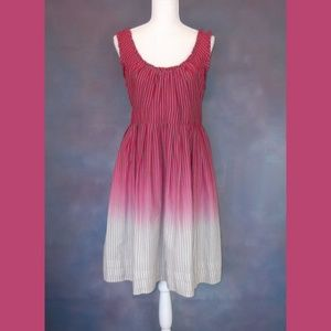 Converse Striped Ombre Tie Back Dress Size L